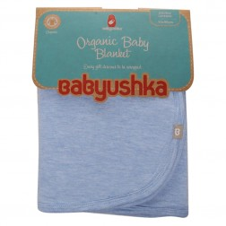 Babyushka Organic Essentials Double-Sided Blanket in Blue Marle
