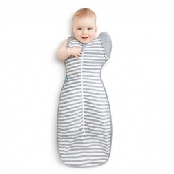 Love To Swaddle UP 50/50 Grey Stripe L - 8.5-11kg