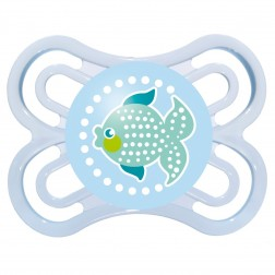 MAM Perfect Soother 0 months+ in Blue Fishy