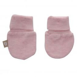Babyushka Organic Essentials Mittens in Pink Marle