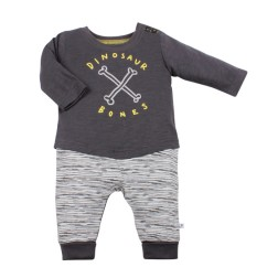 Fox & Finch Denver Dino Bones L/S Romper