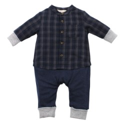 Fox & Finch Highlands Checked Romper