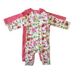 Kimono Jumpsuit Set in Pink Popsicle