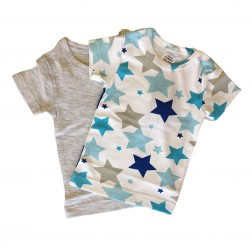 Short Sleeve Tee Set in Grey Star