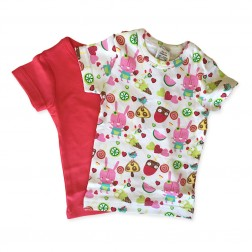 Short Sleeve Tee Set in Pink Popsicle