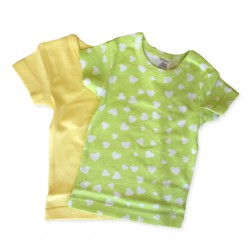 Short Sleeve Tee Set in Green Hearts