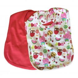 Feeding Bib Set in Pink Popsicle
