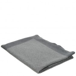 Snugzeez Grey Chevron Knitted Baby Blanket