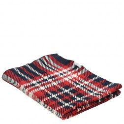 Snugzeez Red Check Knitted Baby Blanket