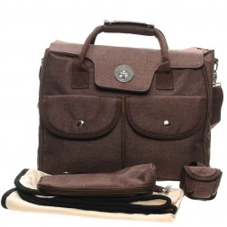 Fashion Carry-All Nappy Bag in Chocolate