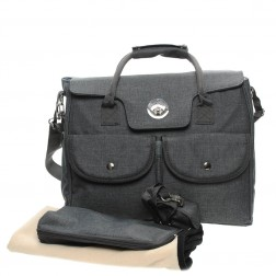 Fashion Carry-All Nappy Bag in Stone