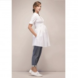 Libby Maternity Tunic in Pure White