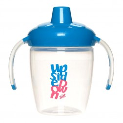Hard Spout Non-Spill Cup w Handles in Blue