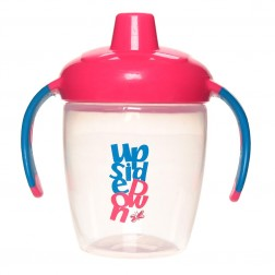 Hard Spout Non-Spill Cup w Handles in Pink
