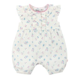 Bebe by Minihaha Nadia Button Front Romper w Frill