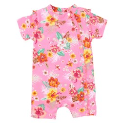 Bebe by Minihaha UPF50+ Kalani Print S/S Side Zip Sunsuit
