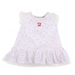 Bebe by Minihaha Christmas Tulle Red Star Dress