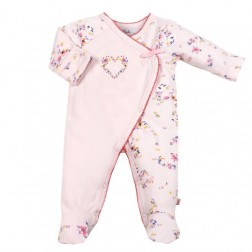 Bebe by Minihaha Piper L/S Wrap Romper W Feet