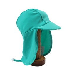 Bebe by Minihaha UPF50+ Legionnaire Swim Hat In Capri Green